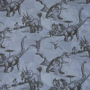 Jersey - Prehistorische dinosaurus op jeansblauw