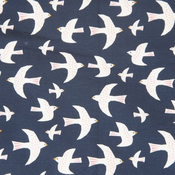 Jersey - papercut birds donkerblauw