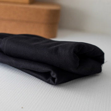Canvas  -washed twill  black