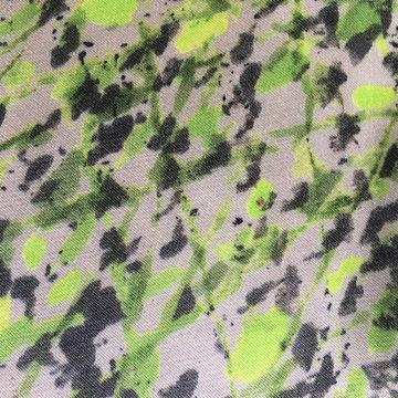 Viscose - Groen beige spatten LMV