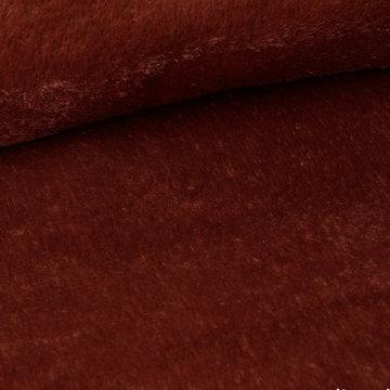 Mantelstof - Fibremood kortharig roestbruin