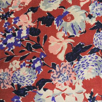 Viscose - Rood met bloemen hanni LMV