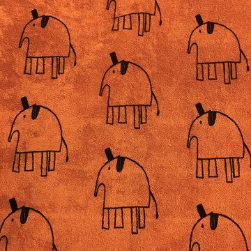 Stretchbadstof - Lewis the elephant