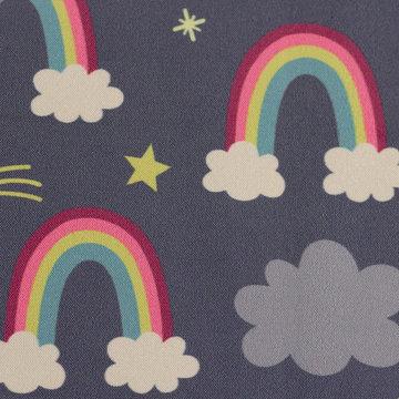 Softshell - Regenboogfantasie op paars