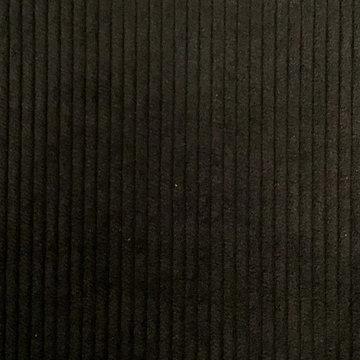 Ribfluweel - Dikke ribbel zwart 001