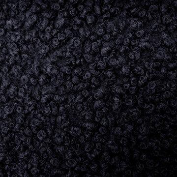 Borg - Mantelstof donkerblauw