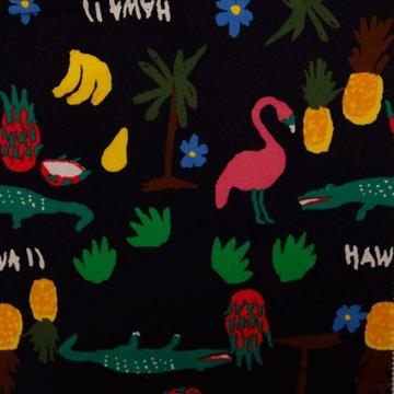 Katoen- Hawaiaanse kindertekening op zwart