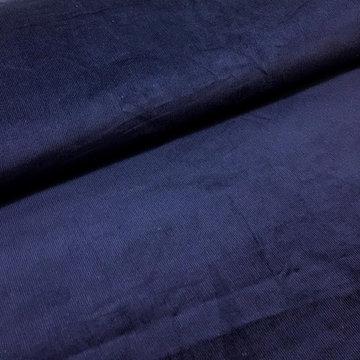 Ribfluweel - Organic donkerblauw