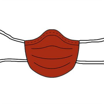Stoffenpakket - Mondmasker effen + keperlint (10 stuks)