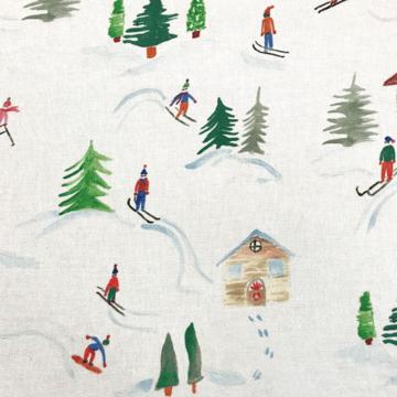 Canvas - Skiërs in sneeuw