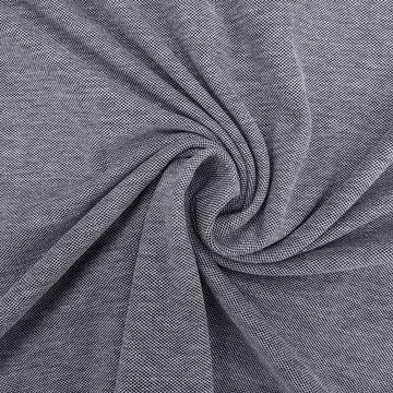 Jersey picqué katoen - Blauw-wit melée