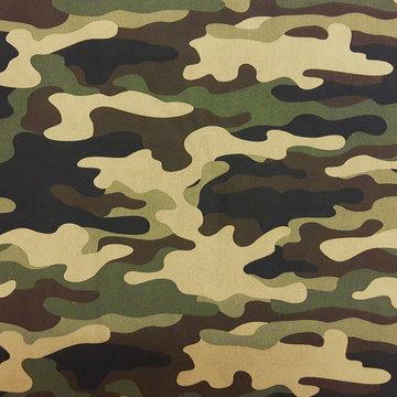 Katoen - Grote legerprint groen