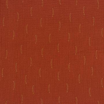 Tetradoek gots - Oker gestreepte lijntjes op roest