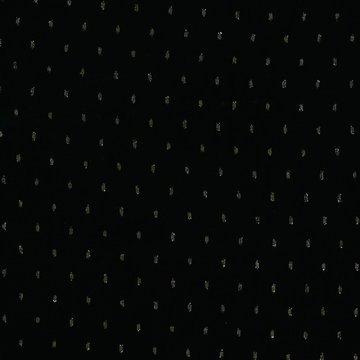 Viscose - Gouden glitter streepjes op zwart