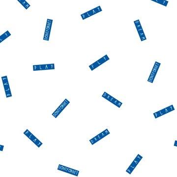 Jersey - Blauwe play tekst op wit