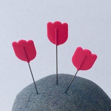Tulip - Cellulose spelden fijn roze