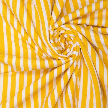 Viscosecrepe - Fibremood gele strepen