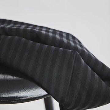 Tencel - Two tone stripe black