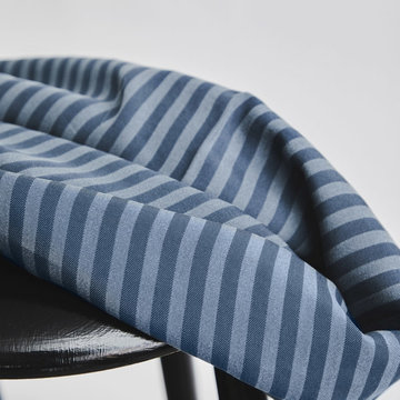 Tencel - Two tone stripe dusty blue