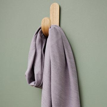 Tencellinnen - Hoya jacquard soft paars