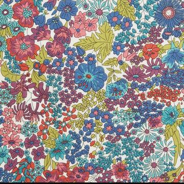 Katoen - Liberty bloemenpalet paars