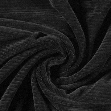 Coupon / Tricot fluweel - Zwart