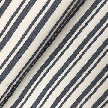 Viscose -Onregelmatige streep grijs