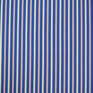 Coupon / Tricot - Streepjes blauw-roze-wit