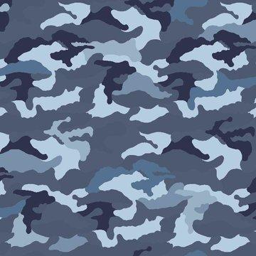 Jersey - Camouflage blauw