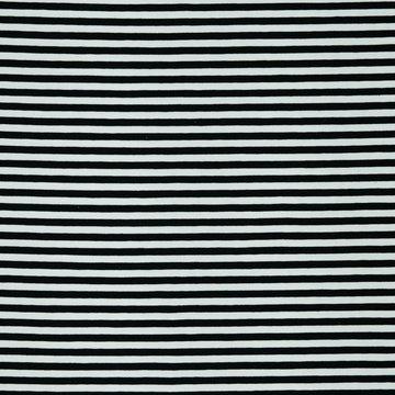 Jersey - Strepen zwart-wit 7mm
