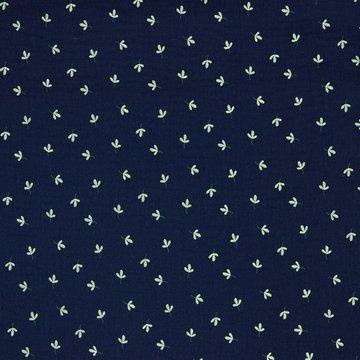 Tetradoek - Groen klavertje op donkerblauw