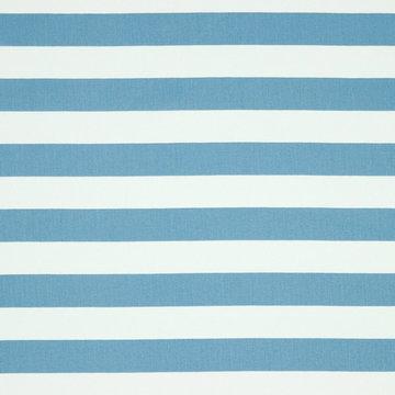 Katoen - Brede strepen blauw-wit