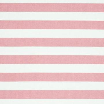 Katoen - Brede strepen roze -wit