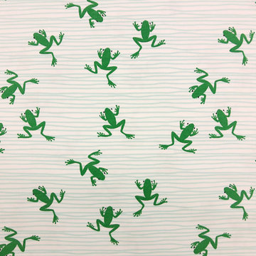 Coupon 150cm / Tricot - Lily frogs