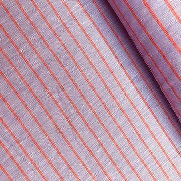 Linnen - Paars met oranje streep