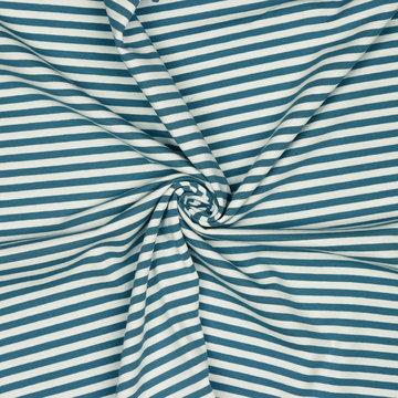 Jersey - Strepen blauw-wit 7mm