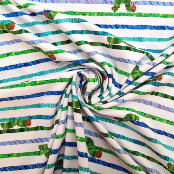 Tricot - Rupsje nooitgenoeg op groen-witte streep