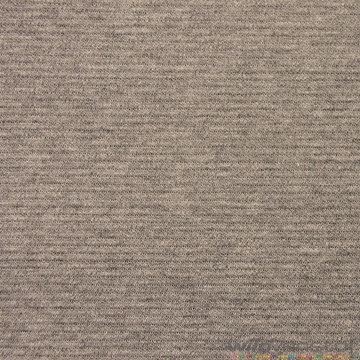Coupon 50 / Jacquard grijs geribd
