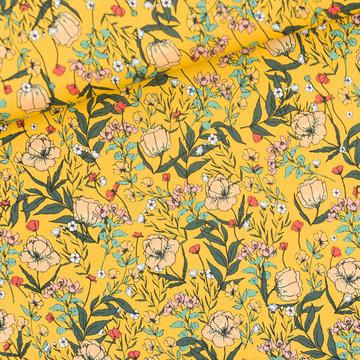Coupon 140 / Lycra mat - Playtime Summer flowers