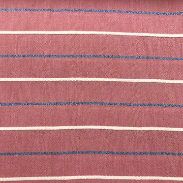 Katoen - Roze met lijnen en lurex