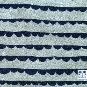 Stretch badstof - Sea you dotty stripes