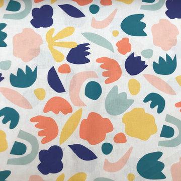 Lakenstof 280 - Vrolijke vormen en kleuren