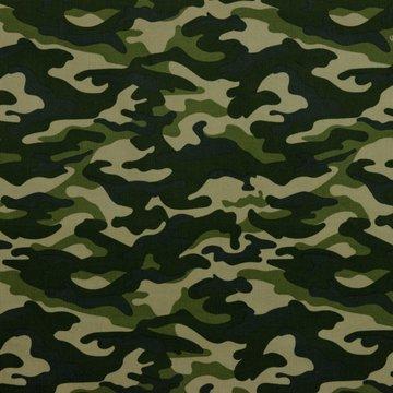 Ribfluweel - Camouflage groen