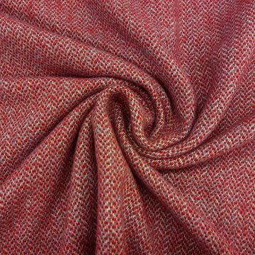 Wol - Subtiele zigzag rood blauw ecru