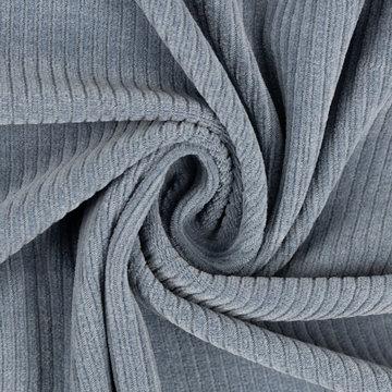 Tricot fluweel fijn - Grijsblauw