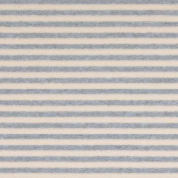 Nicky velours - Ijsblauwe en witte strepen