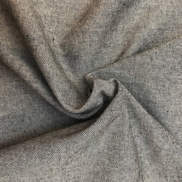 Gerecycleerd canvas - Zwart chambray