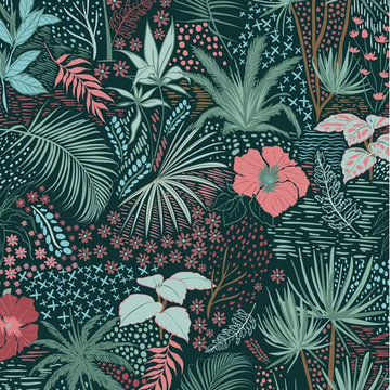 Jersey - Bohemian bloemen koraal