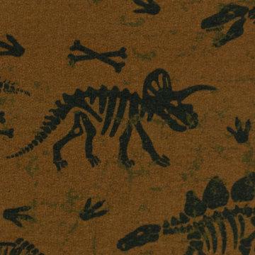 Sweater - Dinoskelet met bones op mokkabruin
