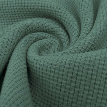 Sweater - Wafelrooster zacht petrolgroen